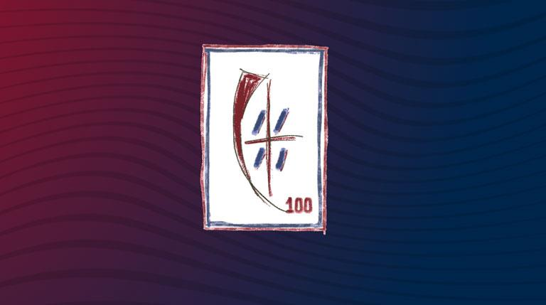The Centenary S Crest Of Cagliari Calcio News Lega Serie A